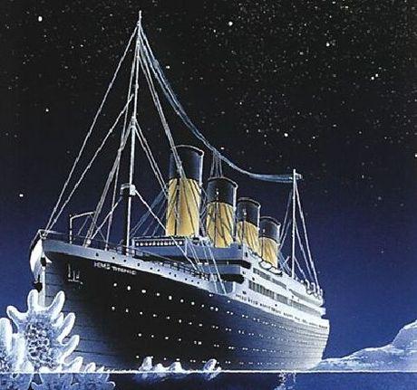 El Titanic, dibujo